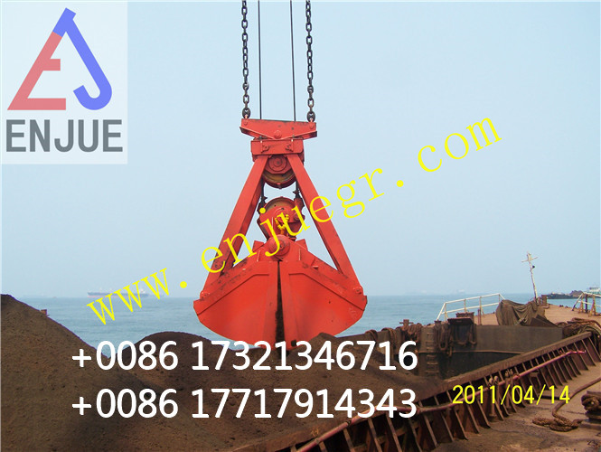 Four Ropes Mechanical Clamshell Grab