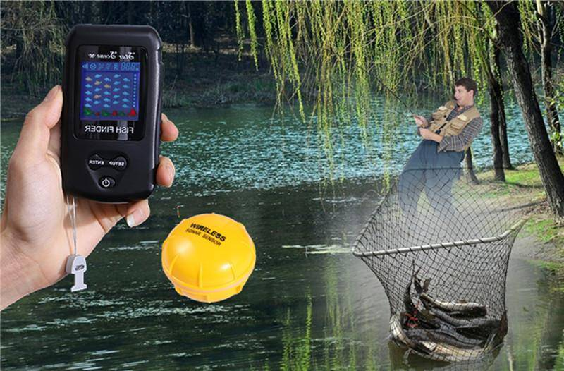 130 Ft Fishifinders Colorful Display Wireless Fish Finder