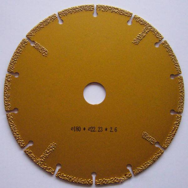 Electroplated Segmented Diamond Saw Blade with Flange and Protected Teeth