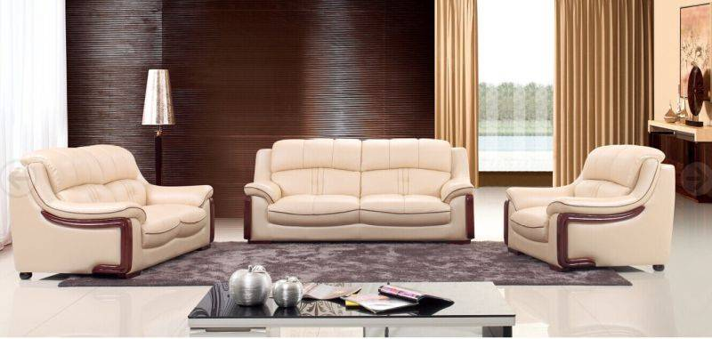 Furniture Office Leather Sofa (L. P. 2190)