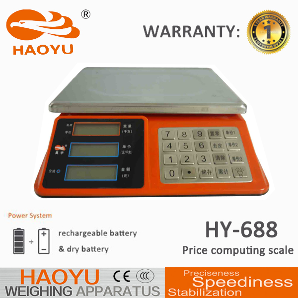 HAOYU Weighing Platform Price Computing Scale 3KG/1G