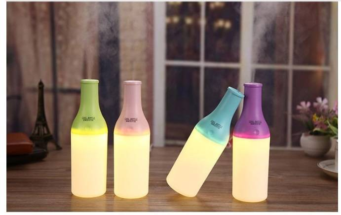 New arrival cooling bottle USB humidifier with lighting