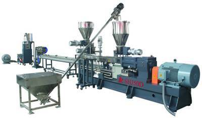 SHJ-50D water cooling strands twin screw extruder