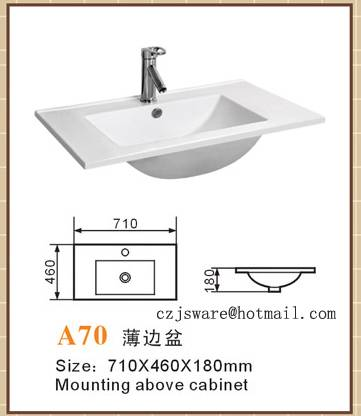 sell cabinet basin,ceramic sink A70