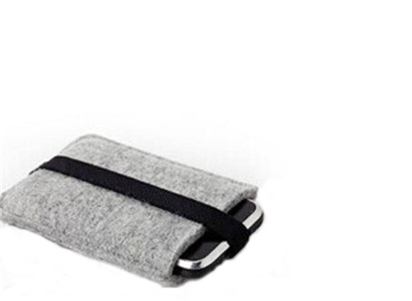 new design customized non-woven felt android phone case cover bag