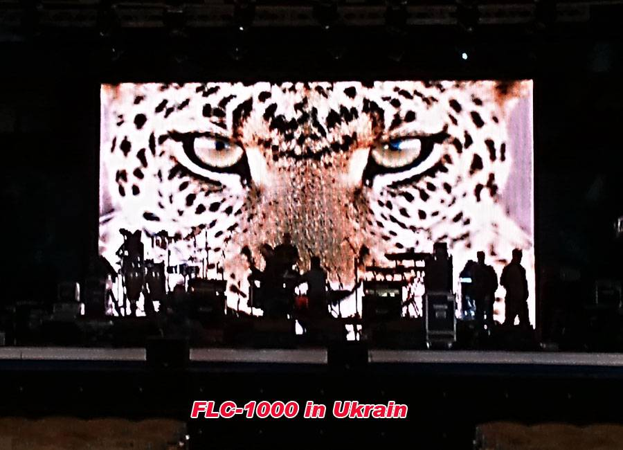 Flexible LED Curtain P30mm for live show in UKRAIN
