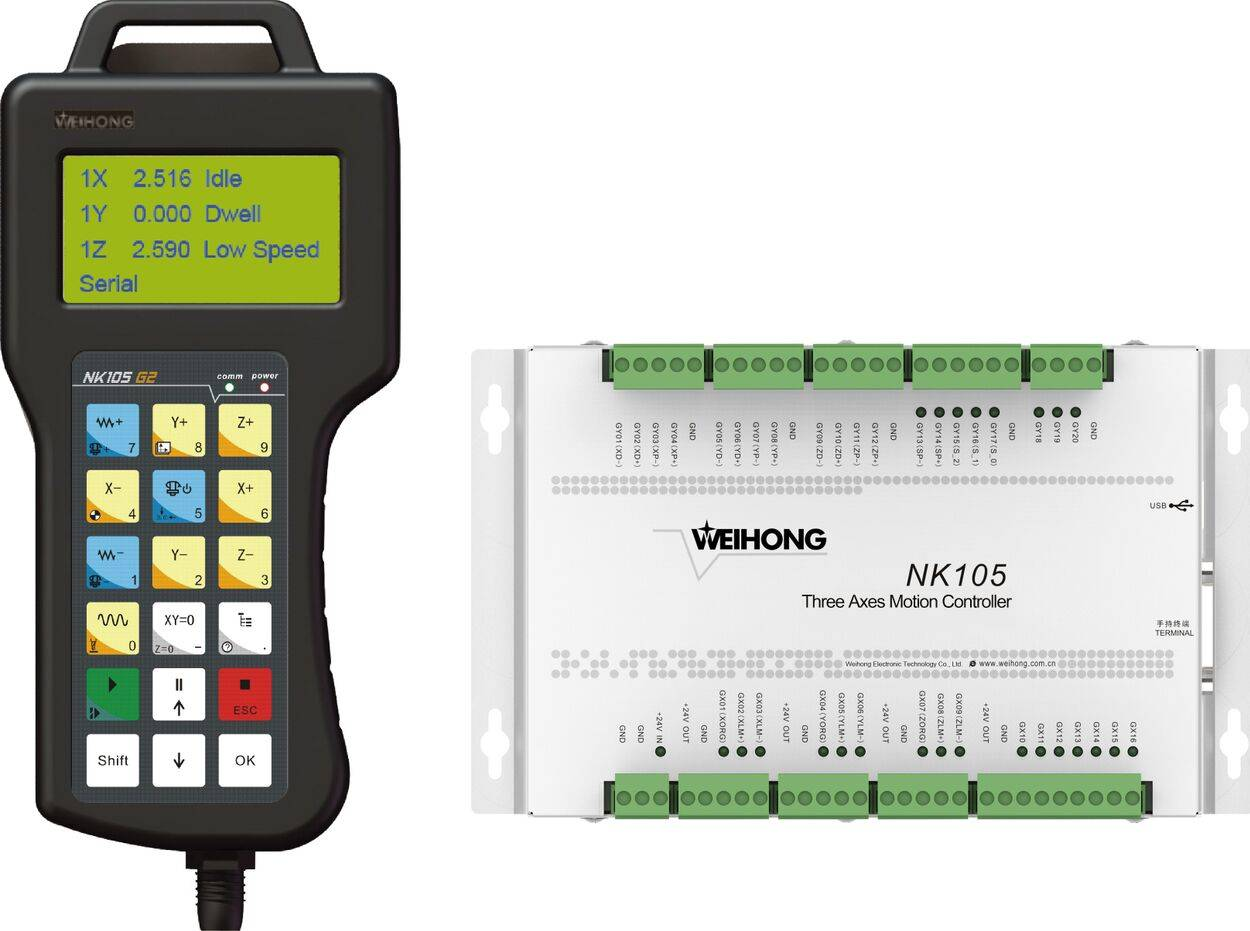 WEIHONG NK105 series 3 axes handheld CNC controller for router and plasma cutting machine