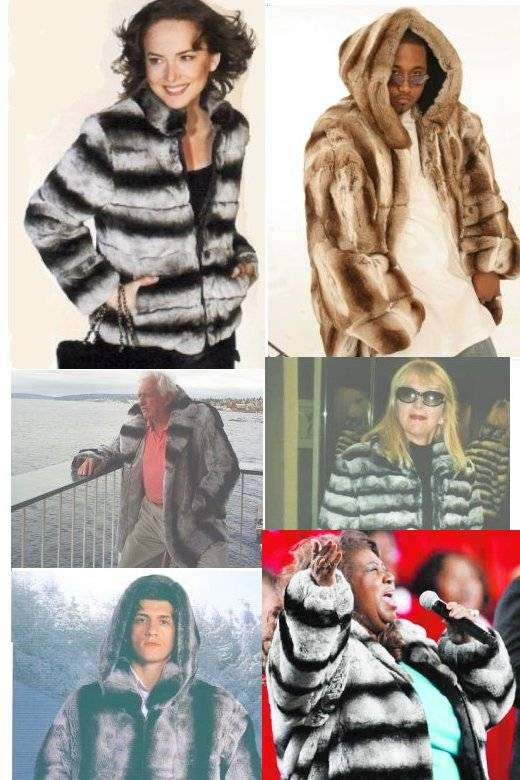 Rex Real Fur Chinchilla Dyed Jackets