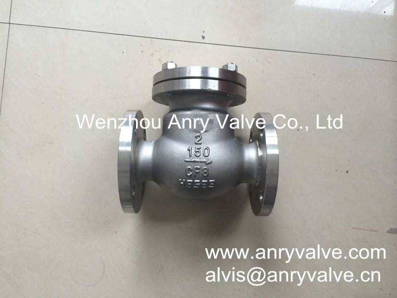Cast steel swing check valve