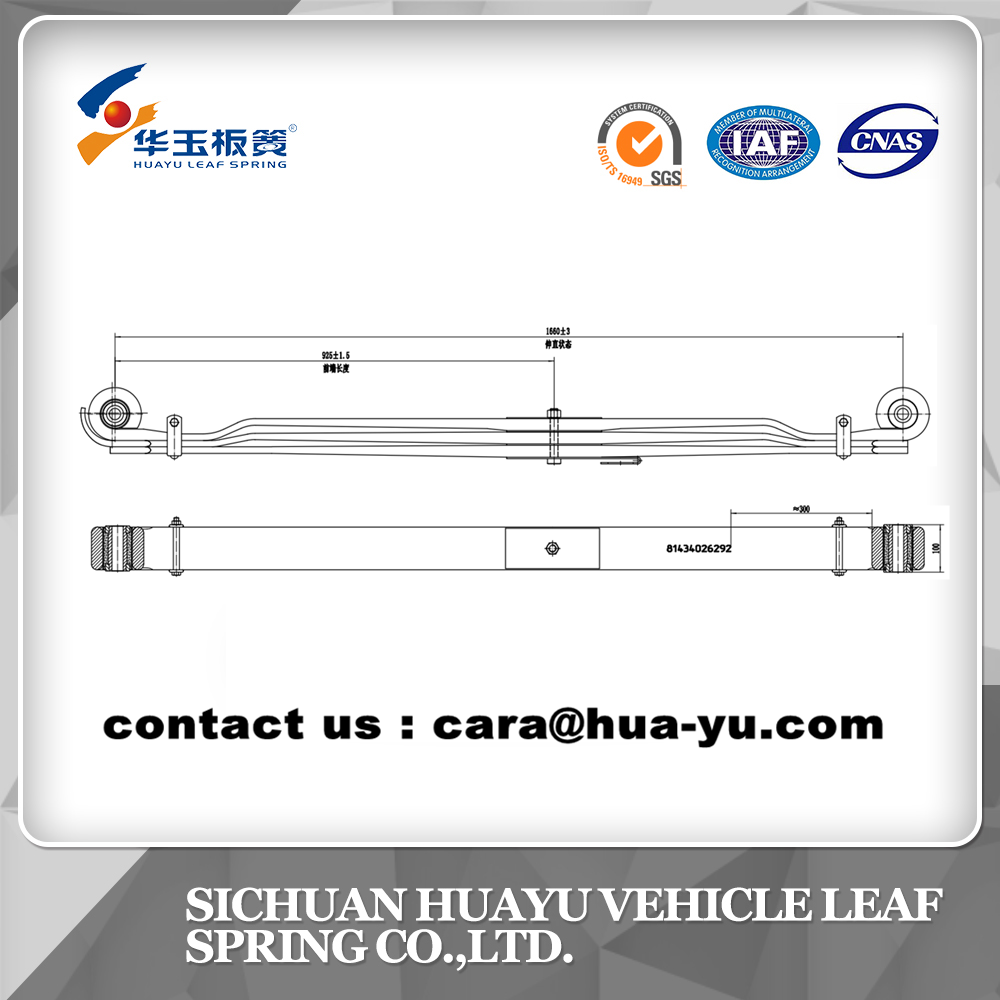 leaf spring compatible with MAN 81434026292