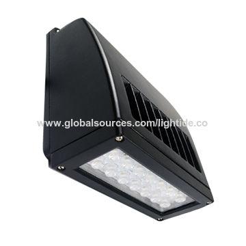 Lightide Slim Full Cut-off LED Wall Pack Light Fixture, 25W CREE LED, Replace 50W HPS Wall Luminaire