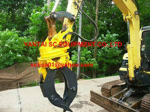 timber grab,Hydraulic wood grapple for excavators