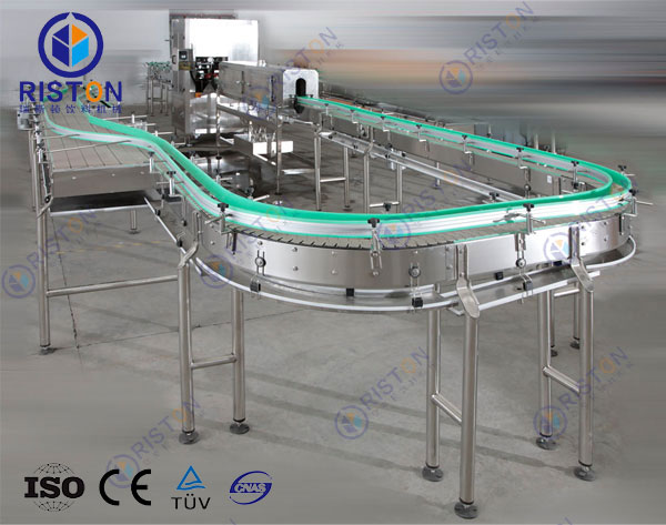 Filled bottle conveyor