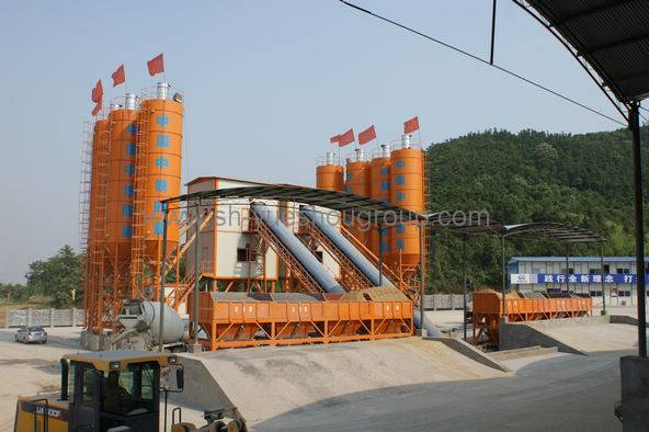 Concrete Mixing Plant of HZS90 (with the production capacity of 90m3/h)