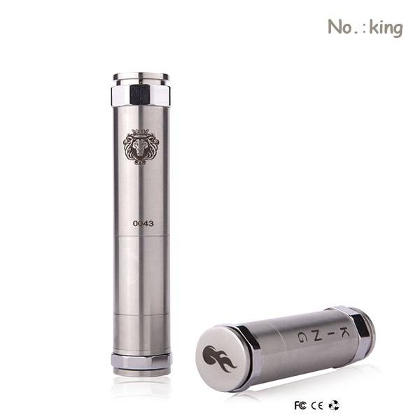 Promotional full brass or stainless steel ce4 mechanical mod king