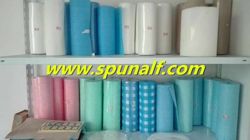 Good Absorbant lint-free Spunlace Type Nonwoven Fabric