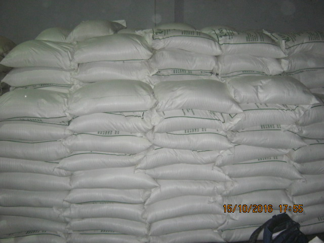 White long grain rice at Mombasa port