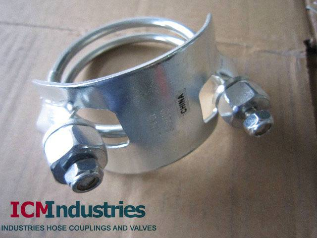 Tiger clamp Spiral double bolts clamp