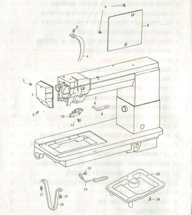 spare parts of postbed sewing machine