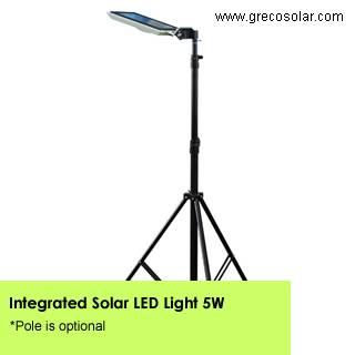 Integrated Solar Garden Lights 5 Watt, Intelligent Solar Garden Lights