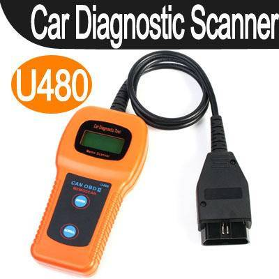 U480 OBD2 OBDII CAN car diagnostic fault code reader scanner