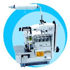 inoverlock sewing machines with lastic bands device