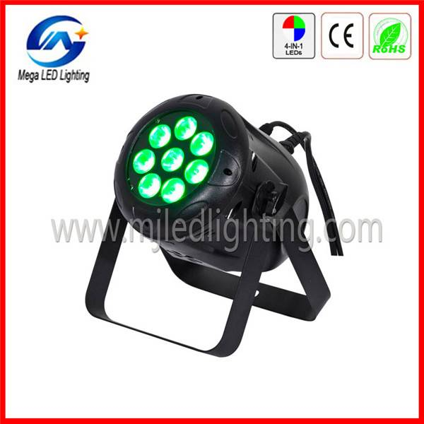 Quad 8 4in1 RGBW sound control mini par light