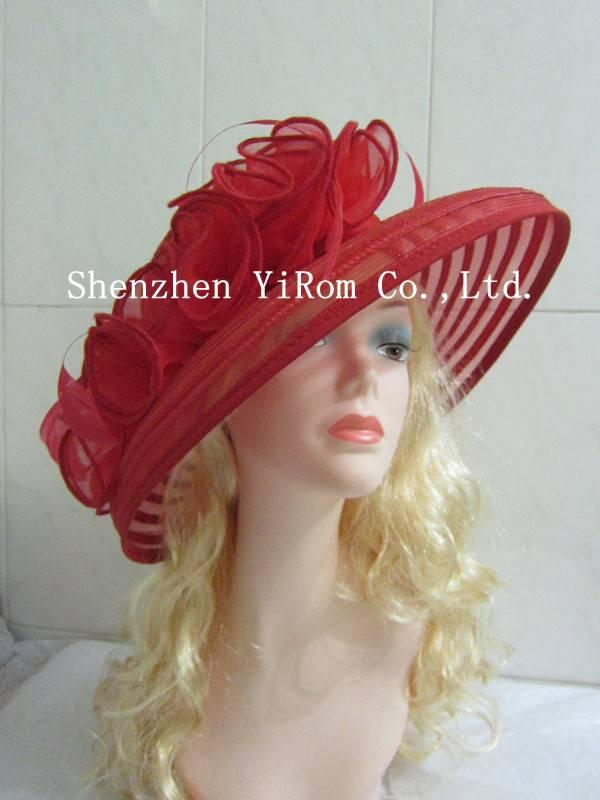 YRLS14004 dress hat, organza hat,pp hat