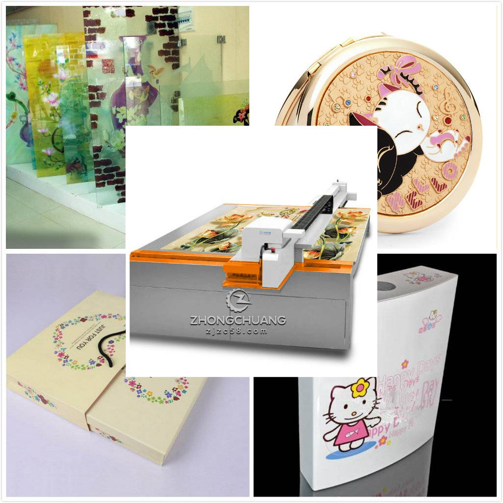 Industrial digital uv flatbed printer for multifunctional printing