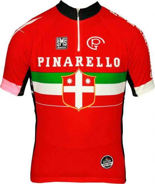 Pinarello red custom cycling clothing