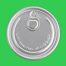 eoe easy open end aluminum can top