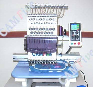 CAMFive Commercial Embroidery Machine 15 Colors CFSE-DM1501 Logos Designs Names