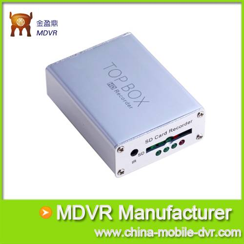 Mini 1 Channel SD DVR Support 32GB SD Card with Remote Control and Motion Detection Compact Size DVR