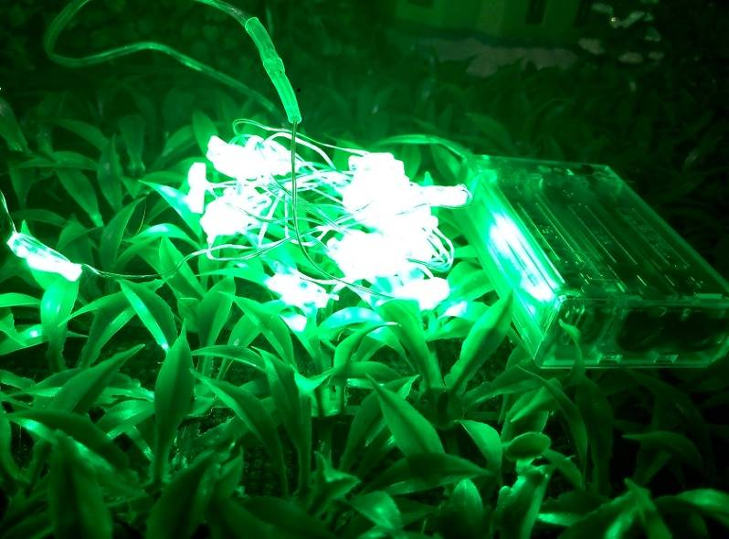 Clover-shaped green lighting 3 AA battery LED fairy light for Christmas decoration