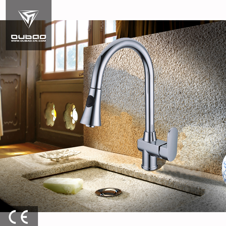 Easy Install Deck Mounted Faucet Swan Neck Kitchen Faucet Basin Mixer