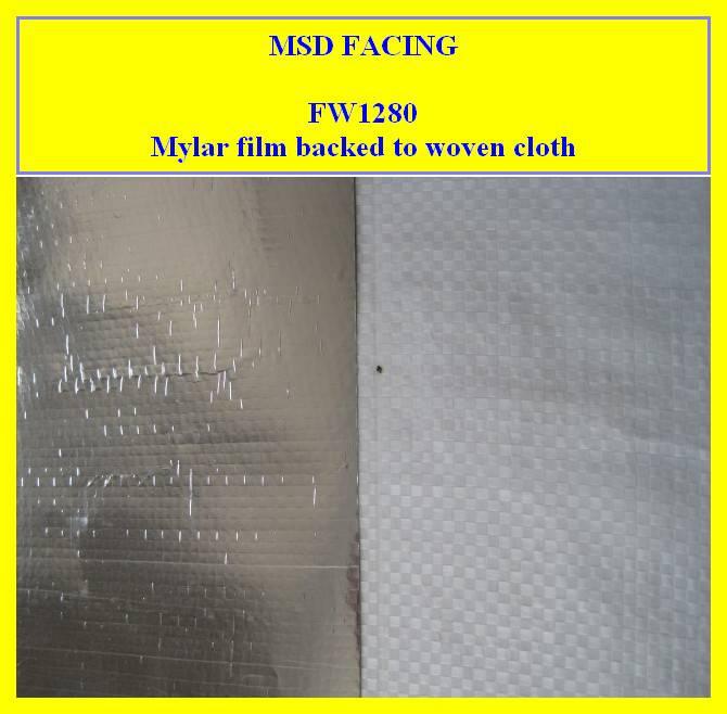 manufacturer of Mylar Film Laminate Woven Fabric (FW1280)