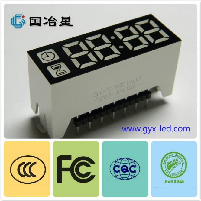 High brightness 7 segment digital LED display with shapes designed