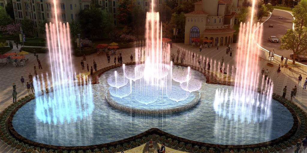 Large Outdoor Dancing& Musical Fountain