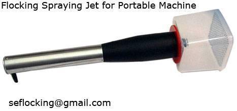 Flocking Spraying Jet