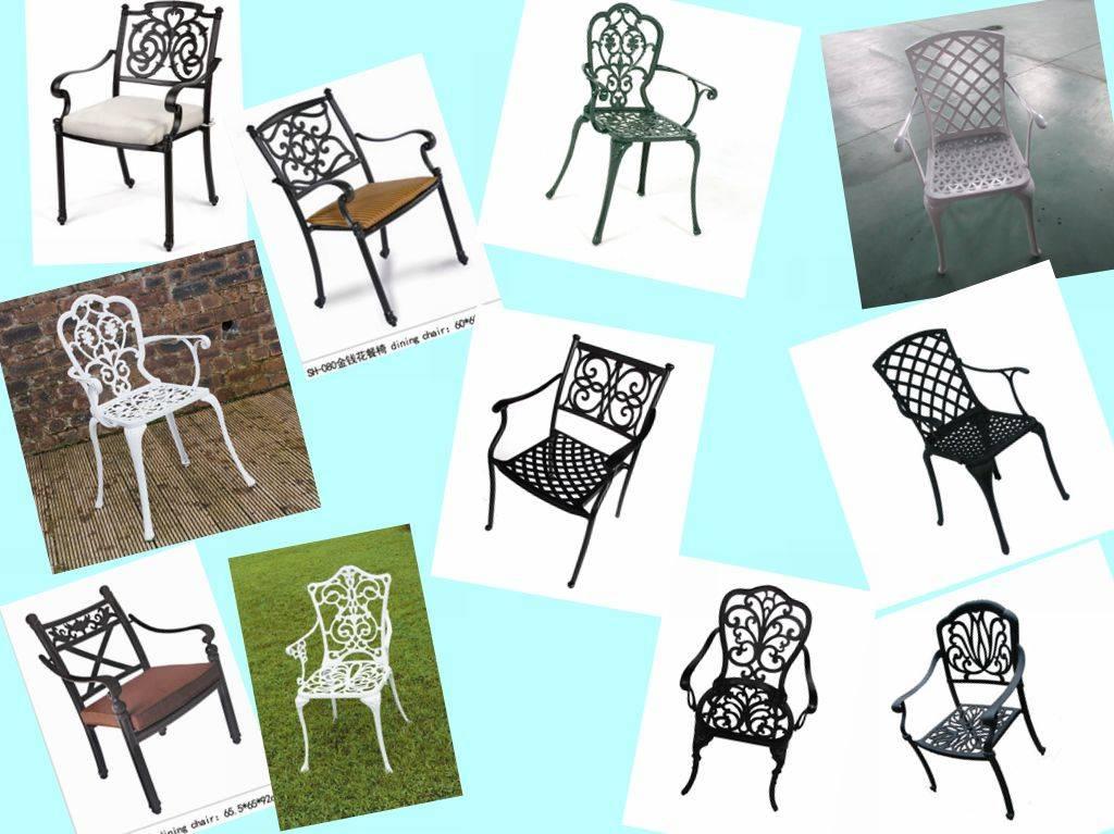 USA popular metal chair Cast Aluminum High Back Arm Chair