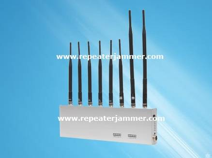 Cell Phone Signal Jammer + GPS + WIFI + Walkie Talkie / Wireless Earphone