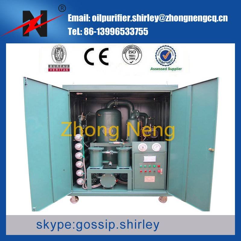 Double-Stage Highly Effective Vacuum Oil Purifier Series ZYD