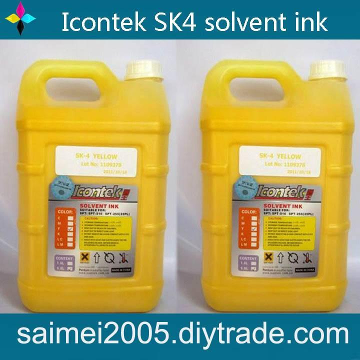 Icontek sk4 solvent ink