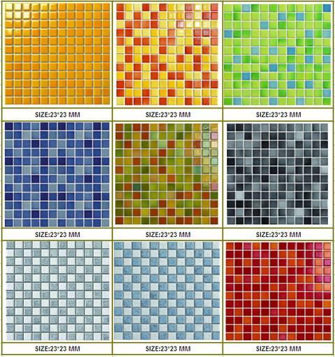 23x23mm Crystallized glazed tiles for swimming pool