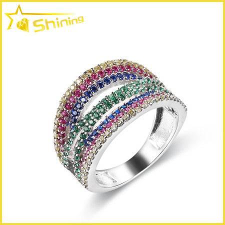 multi color zirconia micro setting ring