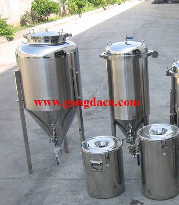 Stainless steel home brewery beer conical fermenter