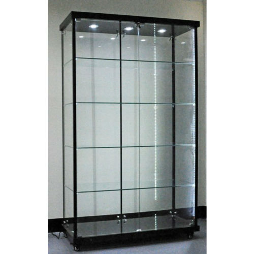 toughened glass cabinet, glass display showcase