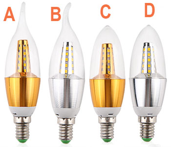 7W CREE Chip Scob LED Candle Lamp Bulb