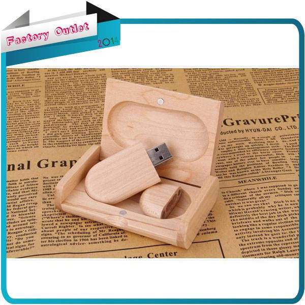 New collectible wooden usb + wooden box usb 2.0 memory flash stick pendrive genuine 4gb/8gb/16gb/32g