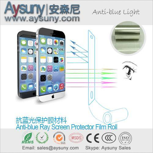 Anti-blue Light Screen Protector Film Roll Material for mobile phone etc